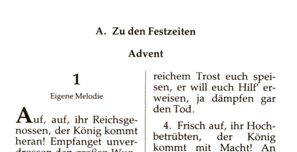 Bildausschnitt aus dem Neuapostolischen Gesangbuch von 1925.